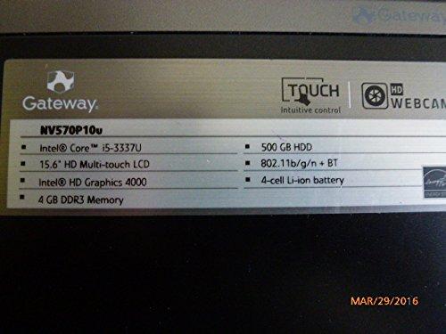 Compare Gateway NV570P10u vs other laptops