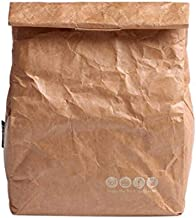 حقيبة غداء بصندوق تبريد معزولة بنمط كلاسيكي بتصميم ورقة وقابلة لإعادة الاستخدام ومانعة للتسرب ومصنوعة من نسيج تايفك البيئي...