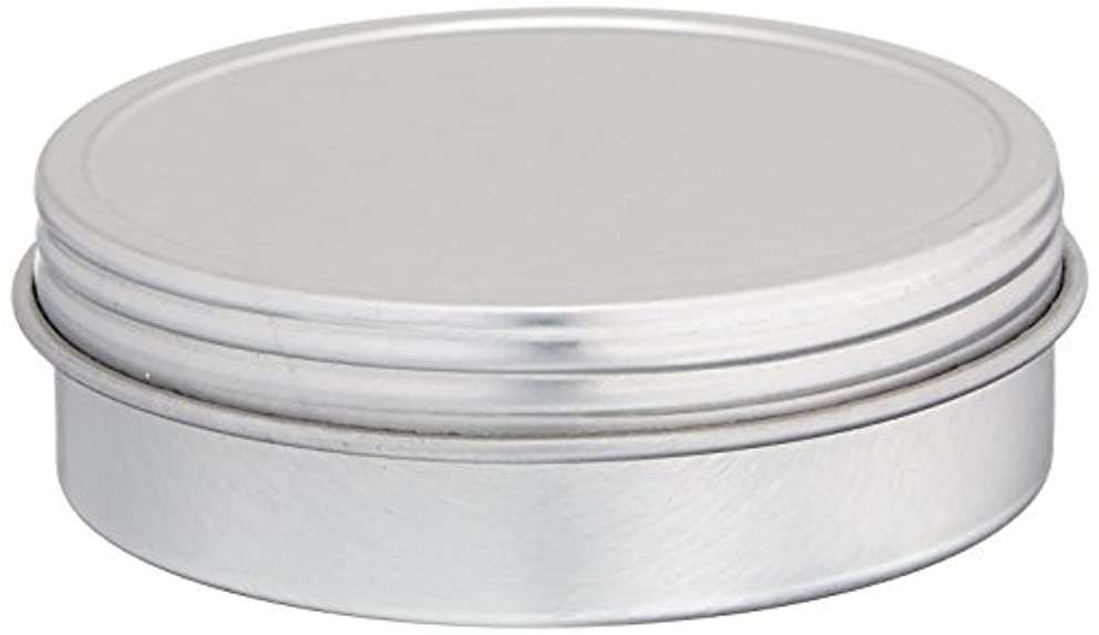 Cafe Cubano 4oz Screw Top Tins - Set of Food Grade Airtight Tin Containers with Screw Top Lids, Flat & Round Tin Can Containers with a Thread Cap Tight Seal (12)