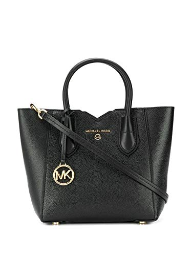 Luxury Fashion | Michael Kors Dames 30H9GM5M1L001 Zwart Leer Handtassen | Lente-zomer 20