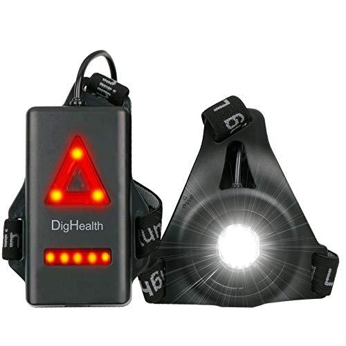 DigHealth Luz para Correr, 3 Modos LED Luz de Pecho Recargable USB...
