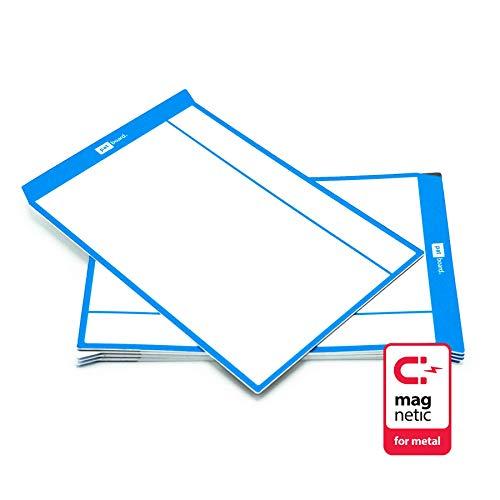 PATboard Scrum Board und Kanban Tafel Task Cards - L (groß) - Satz mit 8 - blau