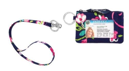 Vera Bradley Zip ID Case in Ribbons and Lanyard in Ribbons by Vera Bradley