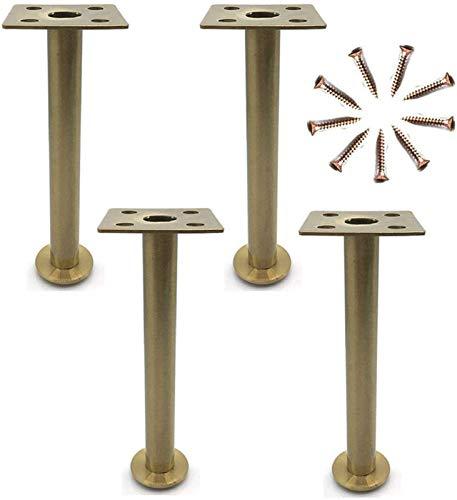 KISAD Patas de Muebles Patas de Mesa de Repuesto 4X Muebles Piernas Sofá Piernas Mesa Metal Piernas Reemplazar Sofá Banco Mesa de Café Muebles Muebles Pie Oro (Size : 210mm)