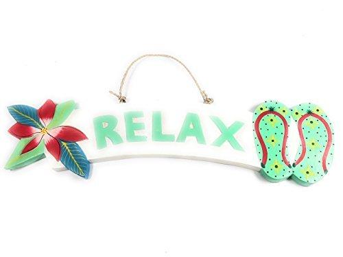 Norma Lily Relax Beach SignPlumeria & Hausschuhe 45,7 cm – Türkis