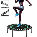 Plazezon 450lbs Mini Trampoline for Adult, Exercise Rebounder Trampoline for Fitness and Workout, 40 Inch Samll Indoor Trampolines, Quiet and Safe Jumping