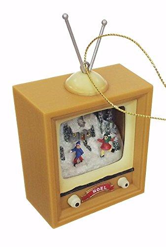 Christmas Skaters Retro TV Ornament