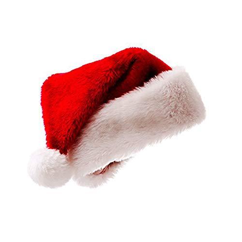 Meiwash Papá Noel Sombrero de Navidad Sombrero de Navidad de Lujo Sombrero de Felpa Niño Adulto Sombrero Navidad Fiesta Familiar Suministros (Niño, 1 PC)