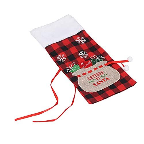 Cubierta de la botella de vino, diseño de rejilla cuadrada Bolsa de suéter de botella de vino reutilizable para el hogar Fiesta de Navidad Decoración de la barra del hogar 36x16cm / 14.2x6.3in(#1)