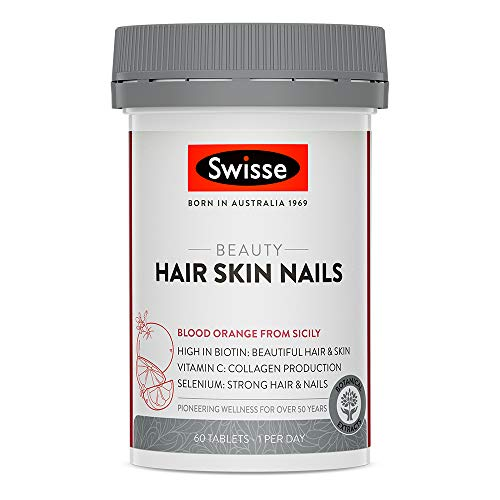 Swisse Beauty Hair, Skin & Nails Tablets | Supports Collagen Production | Vegan Supplement | 60 Tablets