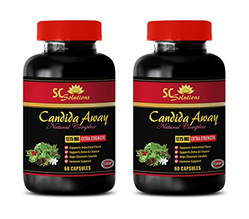 Immune Support Dietary Supplement - Candida Away Plus - Candida Now Support - 2 Bottles (120 Capsules)