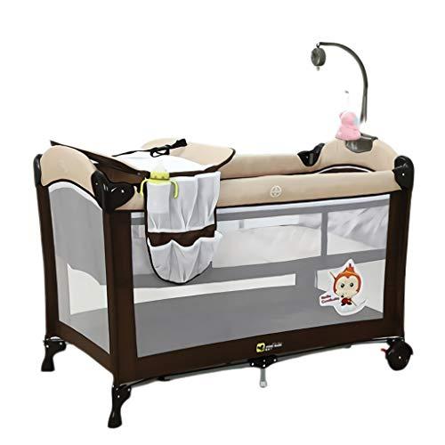 DUOER home Lit de Voyage Bébé Lit de bébé avec clôture Lit de bébé Lit Pliable Facile à Transporter Lit de Berceau Lit de Jeu Couffin Bed ( Color : A )