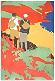JRLDMD Cuadros Decoracion Hikers 1931 Turismo Vintage Poster Decoracion Pintura Poster Moderno Lienzo Cuadro Decorativo 40x60cm x1 Sin Marco