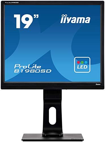 iiyama ProLite B1980SD-B1 48cm (19 Zoll) LED-Monitor SXGA (VGA, DVI, Höhenverstellung, Pivot) schwarz