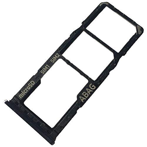 Preisvergleich Produktbild Dual Simkartenhalter und Micro-SD Card Fach für Samsung Galaxy A21s,  Original Ersatzteil,  Schwarz