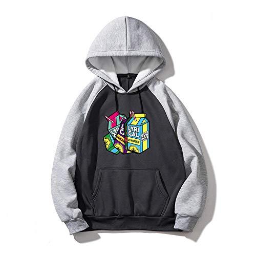 AOSHE Suéter de Costura New Juice Wrld Rap Hip Hop Rap Sudadera con Capucha de Paja para hombresJersey de Manga Larga Sudadera con Capucha de Manga Larga para Mujer Sudadera con Capucha