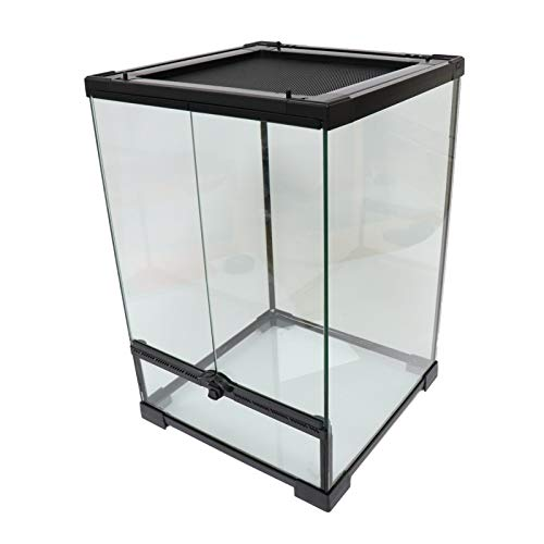 Reptile Mini Tall Glass Terrarium/Vivarium - 30x30x45cm / 12'x12'x18'