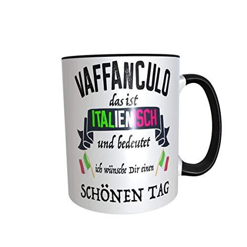 Great Things 4 Family Kaffeetasse Vaffanculo Tasse mit Italien Spruch Lustig frech Arbeit Kollegen Italiener Italienerin