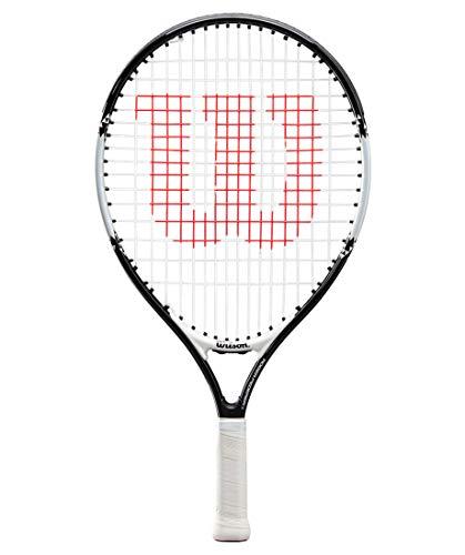 Wilson Roger Federer - Azada de tenis para niños (19', con cordones, 16 x 15 cm), color blanco