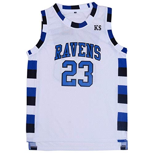 TUEIKGU Mens Ravens Basketball Jersey #23 Nathan Scott Sports Movie Jersey White (Small)