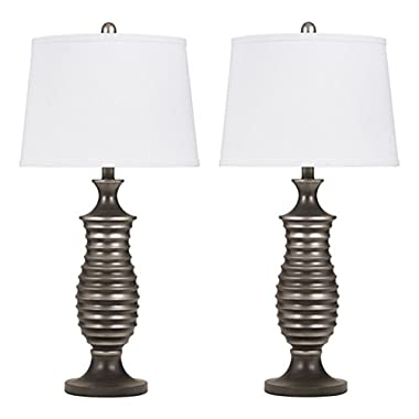 Ashley Furniture Signature Design -  Rory Table Lamps - Contemporary - Set of 2 - Antique Silver Finish