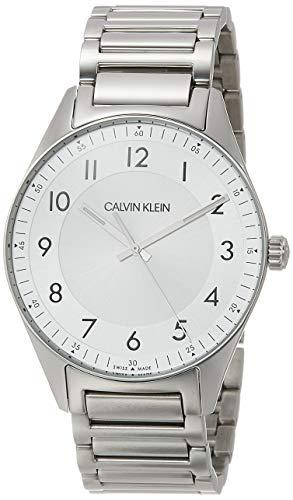 Calvin Klein Herren-Uhren Analog Quarz One Size Silberfarben/Silber 32012765