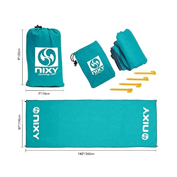 """NIXY Landing Mat Paddle Board Ground Tarp 142"""" x 57"""", Quick Drying, Durable, Sand and Dirt Resistant, Nylon, Best for Water Gear"""