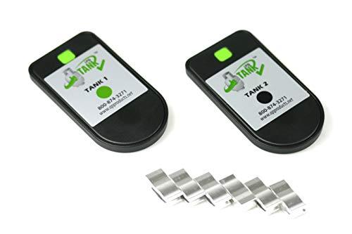 Gasflaschen Inhaltsanzeige by MOPEKA Bluetooth Set für Zwei Flaschen- Füllstandsanzeiger - Gas Level Control Check - Gasmesser für Stahlflaschen. Füllanzeige für Camping und Wohnmobil