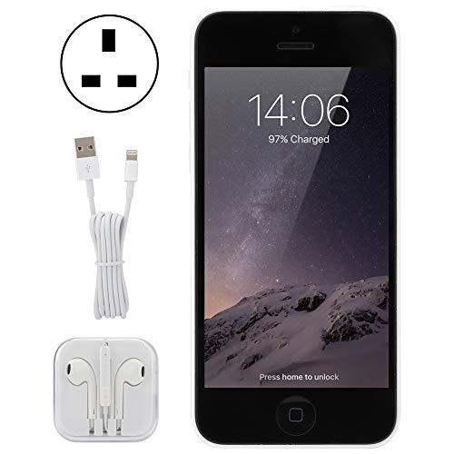 LYJL (Enchufe del Reino Unido Refurbado para iPhone 5c Dual Core Single Sim Smart Phone 1 + 32g White (100-240v)