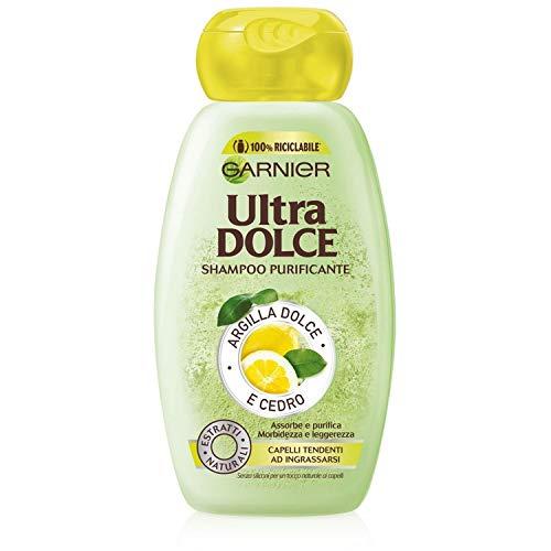 Garnier Multi Pack Shampoo Ultra Dolce, Shampoo per Capelli che Tendono a Ingrasssarsi, Argilla e Cedro, 250 ml, Confezione da 12