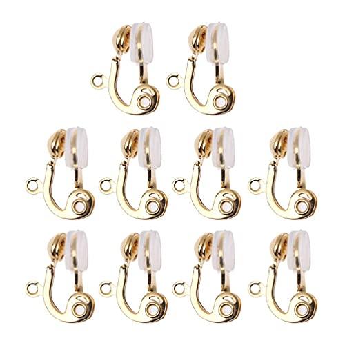 XINGYUE 10 piezas clip convertidor de pendientes no perforado aro con comodidad pendiente cojín espejo de pie con almacenamiento de joyas