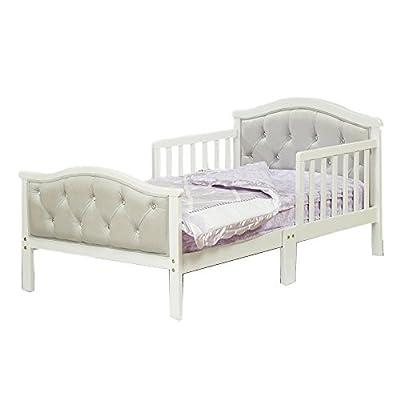 Orbelle Trading The Orbelle Gray Padded Toddler Bed