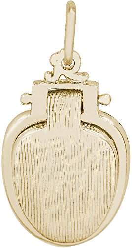Rembrandt Toilet Seat Charm - Metal - Gold-Plated Sterling Silver