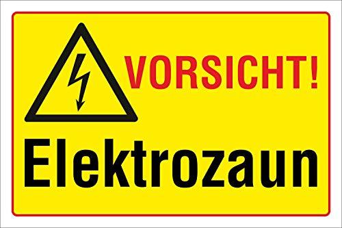 WERBEPUNKT. Schild Vorsicht - Elektrozaun, 3 mm Alu-Verbund 300 x 200 mm