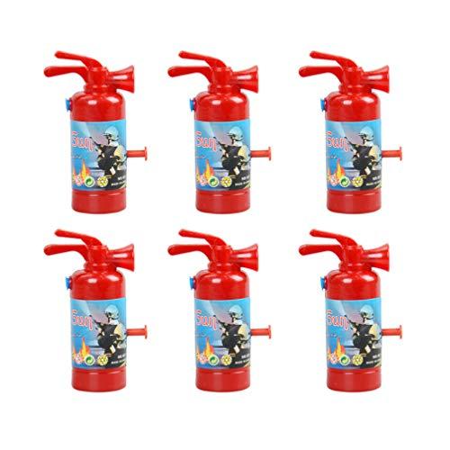 TOYANDONA 6Pcs Feuerlöscher Form Wasserschütze Tragbare Langlebige Spielzeug Wasserschütze Wassersprüher zum Schwimmen Außenpool Bad Strand
