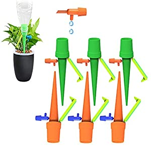 TAOPE 6 Pcs Riego por Goteo Automático Kit,Ajustable Piezas Riego por Ggoteo Spike Sistema de Irrigación para Jardín Bonsáis y Flores, Ideal Dispositivo de Irrigación Automático en Vacaciones