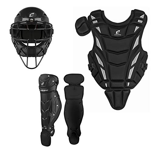CHAMPRO Triple-Play Youth Catcher'S Set, Ages 6-9, Black (CBSY569B)