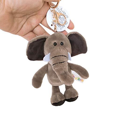 GLANGYU Nette Zeichnung Tier-Spielzeug Keychain Plüsch-Rucksack-Beutel Keychain (Color : E 12cm)