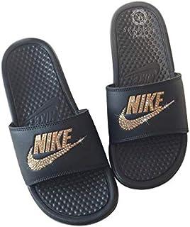 on sale 4b479 5ec0b Nike Blinged Out Slides for Women - Bling Swarovski Bedazzled Kicks - NIKE  Benassi JDI Slides