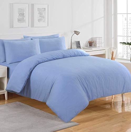 Sábana bajera ajustable de franela térmica, color azul, 30 cm de profundidad, 100% franela de algodón cepillado suave, calidad de hotel, extra suave, ropa de cama de lujo (king)