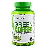 Fitomax Extrait de Café Vert Paquet de 1 x 90 Capsules Végétaliennes avec de la Caféine et de L'Acide Chlorogénique...
