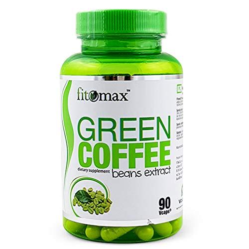 Fitomax Extracto de Cafe Verde Paquete de 1 x 90 Cápsulas Veganas con Cafeína y Acido Clorogénico - Green Coffee - Pura - Quemador de Grasa
