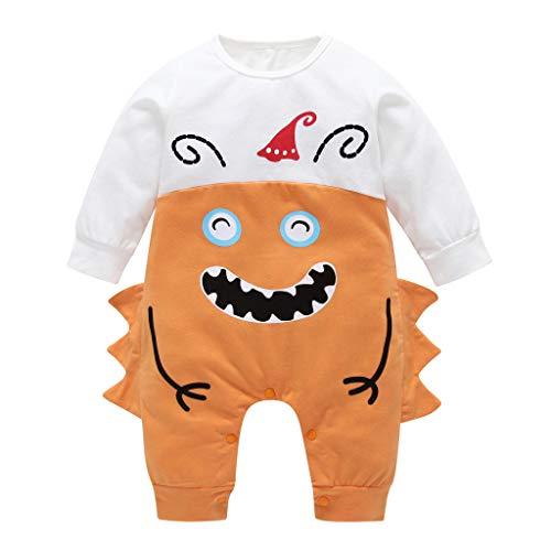 Pingtr Baby Halloween Kostüm,Kleinkind Baby Jungen Mädchen Cartoon Print Strampler Halloween 1 STÜCKE Overall Outfits