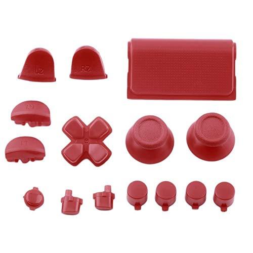 Botones de Repuesto Custom Mod Kit para PS4 para Playstation 4 Controller Color sólido, Rojo
