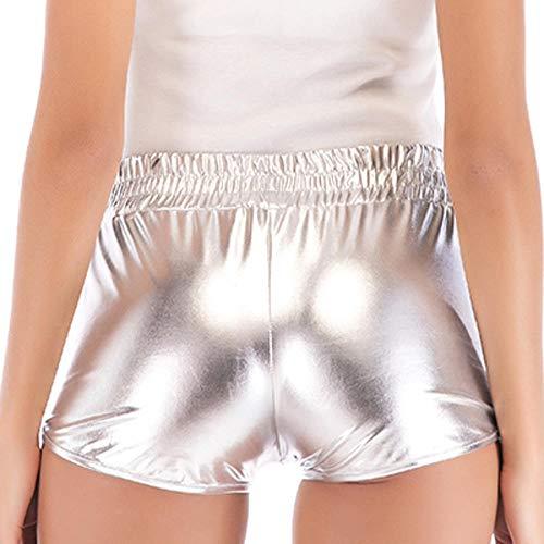 Ledershorts Frauen Sexy Frauen Kurze Hosen Loose Casual Elastic Waist Shorts Plus Size