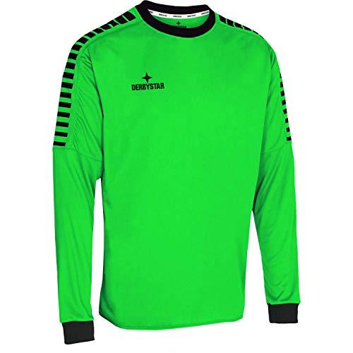 Derbystar Hyper Torwarttrikot Camiseta de Portero, Unisex Adulto, Verde y Negro, XXXL
