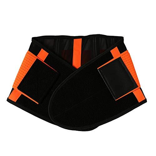 Waist Trimmer Weight Loss Sweat Adjustable Wrap Waist Trainer Stomach Adjustable Abdominal,Orange,S