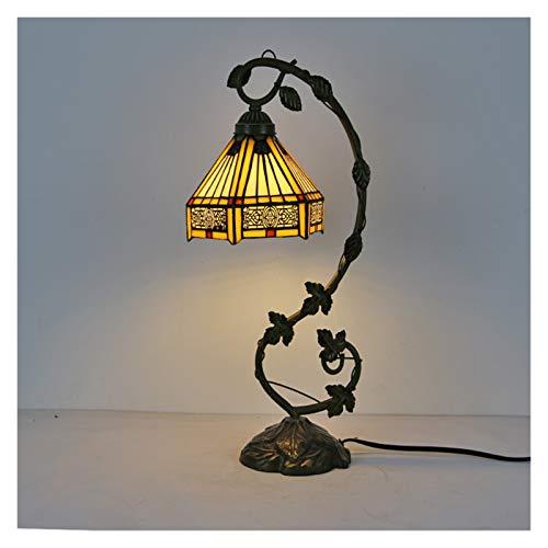 BDDLI Lámpara de Mesa American 8 Pulgadas lámpara de Mesa Sala de Estar lámpara Decorativa Escritura Escritorio lámpara lámpara de Regalo de Boda Conveniente para Regalos de decoración del hogar