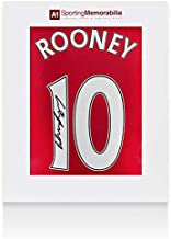 Wayne Rooney Signed Manchester United Shirt 2015/2016 Number 10 Fan Style Number - Autographed Soccer Jerseys