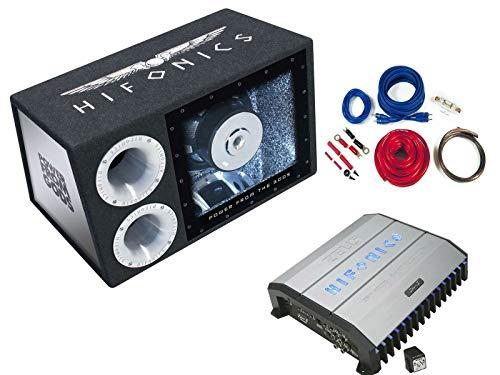 Hifonics Auto Komplettset Basspaket 30cm Subwoofer 2-Kanal Verstärker Kabelset 1000 Watt